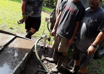 jon supervising well drilling